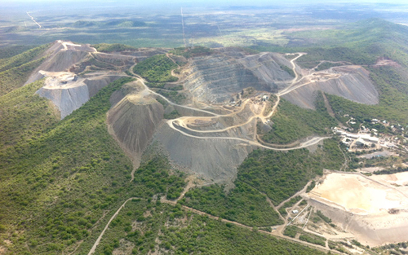 Aerial view of the Okorusu mine complex