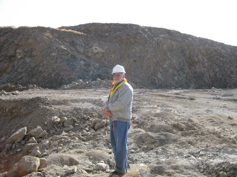Peter Eysselein reviewing the mining operations