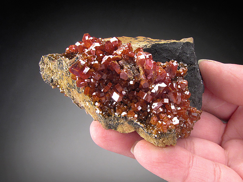 Vanadinite Crystals ACF Mine Mibladen Atlas Mountains Morocco Mineral Specimen For Sale