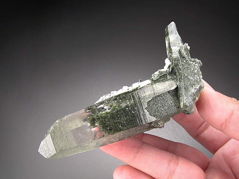 Quartz Crystal with Inclusions Ganesh Himal Dhading Himalaya Mountains Nepal Mineral Specimen For Sale
