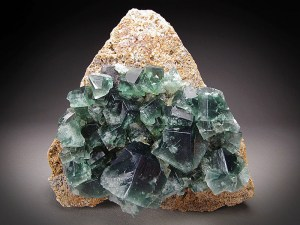 Mineral Specimen Fluorite Crystals Rogerley Mine County Durham England Cube Green Fluorescent Blue For Sale