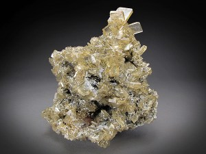 Mineral Specimen Yellow Barite Crystals Meikle Mine Bootstrap District Elko County Nevada For Sale