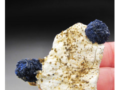 Deep-Blue Azurite Crystal Balls, Grant County, New Mexico