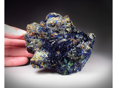 Azurite Crystals on Limonite, Concepcion del Oro, Mexico