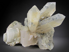 Quartz and Calcite Crystals, Inner Mongolia, China
